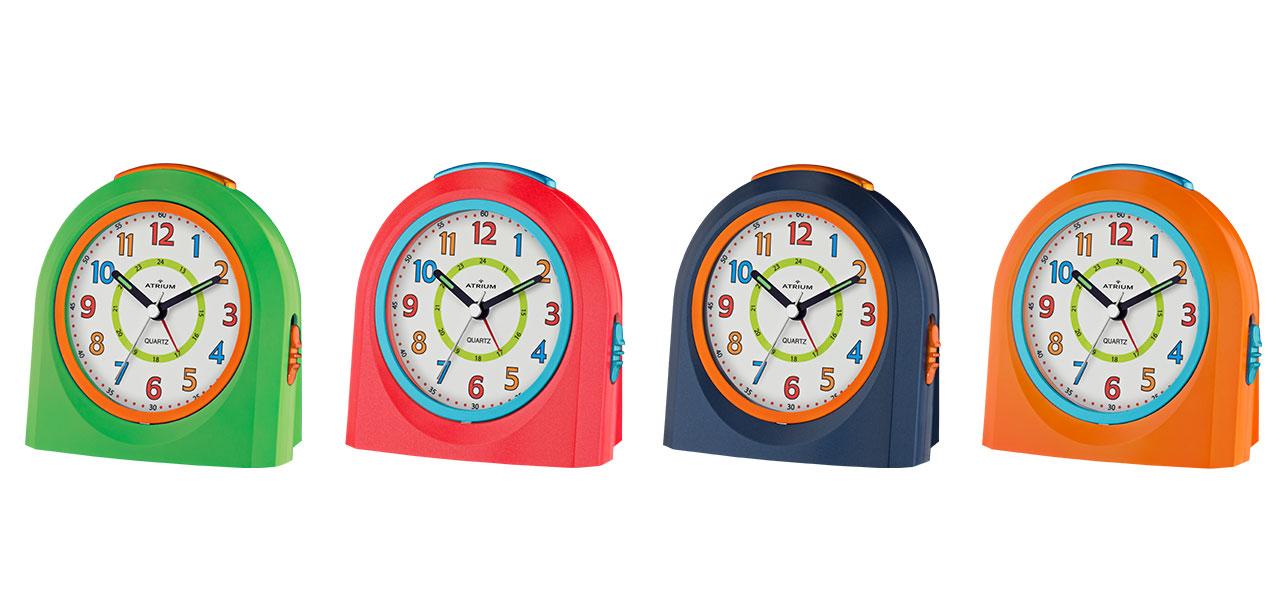 Serie A921 von Atrium - Topseller in aktuellen Farben, Quarzwecker fließende Sekunde Snooze LED-Licht ansteigendes Wecksignal Größe: 10 x 10 cm